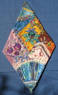 I ❤ crazy quilting & embroidery . . . CQJP January block ~By Brigitte Otto