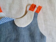 Natural Chambray Linen Swing Top with by HarrietsHaberdashery