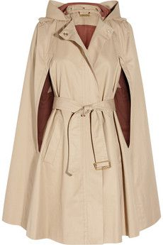 cotton twill cape. oooo! i don't think i'd have the guts - or clothes to wear with it - but this is fabulous.