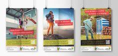 Déclinaison en 3 affiches du dispositif de bourses projet © Karine Houssais pour la CCMVS
