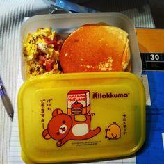 Monday's lunchbox: ホットケーキ!! (≧∇≦)