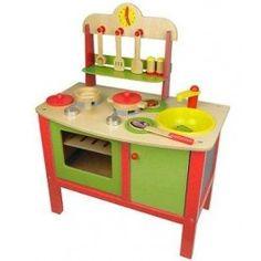 Houten keuken met accessoires   Kinderkeuken