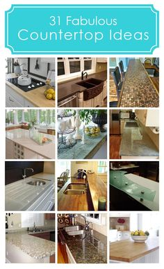 #31 DIY:: Frugal Fabulous Countertop Ideas:: Each with it's own Tutorial !!