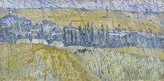 Rain–Auvers by Vincent Van Gogh, 1890.