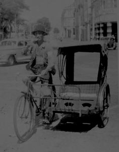 Trishaw in Singapore - 1953. THE LIBYAN Esther Kofod www.estherkofod.com