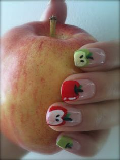 Apples on nails
