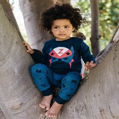 Warm and cosy Milky pyjamas, will help your little ones sleep all night long. Funky Superhero print on the front, matched back with green and navy hero print p Kids Pajamas, Pyjamas, Pjs, Pj Sets, Midnight Blue, Your Child, Little Ones, Superhero, Children