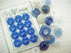 Vintage Glass Sewing Buttons Assortment (20) Each by NickelNotions for $5.95