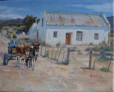 This painting is an original of Alet van Heerden and is my property. Landscape Art, Landscape Paintings, Landscape Photography, Art Photography, African Art Paintings, South African Artists, Country Art, Pictures To Paint, Beach Art