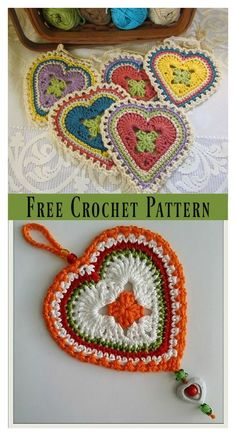Granny Sweet Heart Free Crochet Pattern This Granny Heart Free Crochet Pattern can help you make your own crochet granny hearts, which are not only for Valentine's day, but also a lot of other uses. Crochet Puff Flower, Crochet Flower Patterns, Crochet Motif, Crochet Designs, Crochet Flowers, Crochet Stitches, Crochet Hooks, Free Crochet, Crochet Hearts