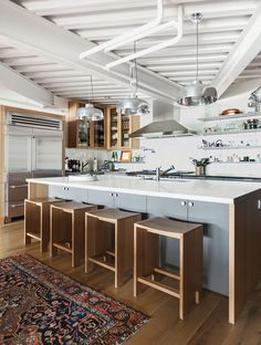 Kitchen of San Francisco renovation by Erica Severns.