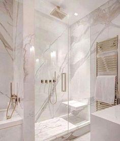 White and gray bathroom - # white - Badgestaltung ideen - Badezimmer Modern Master Bathroom, Grey Bathrooms, Small Bathroom, Bathroom Marble, Bathroom Mirrors, Bathroom Cabinets, Minimalist Bathroom, Luxury Bathrooms, Master Baths
