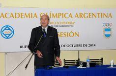 Conrado Durántez invitado a la Sesión Anual de la Academia Olímpica Argentina