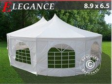 Party tent Marquee 8.9x6,5 m Design peak style roof from Dancover