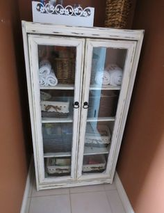 painted and distressed cheap laminate cabinet