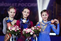 News Photo : Silver medallist Aleksandra Trusova, gold. Kim Yuna, Ice Skating, Figure Skating, Women Figure, Ladies Figure, Alina Zagitova, Medvedeva, Ice Queen, Work Inspiration