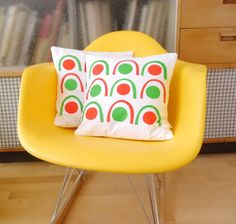 New Scandinavian Screen Printed Abstract Cushion Pillow by Jane Foster