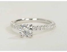 1.02 Carat Diamond Petite Luna Diamond Engagement Ring | Recently Purchased | Blue Nile