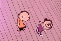 cute peanuts dance Charlie Brown snoopy snoopu