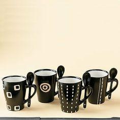 Nairobi Ceramic Mugs - Black