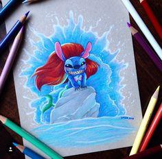 Dada16808 Disney Stitch as Ariel