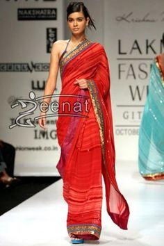Diana Penty Red Hot Saree
