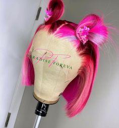 Cute Weave Hairstyles, Baddie Hairstyles, Braided Hairstyles, Curly Hair Styles, Natural Hair Styles, Beautiful Hair Color, Hair Dye Colors, Pink Hair, Lace Wigs