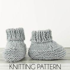Flat Knit Booties Knitting Pattern