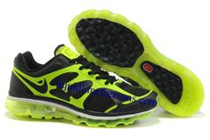 reputable site 7c314 6418e Mens Nike Air Max 2012 Black Green Shoes Cheap Nike Air Max, Nike Air Max