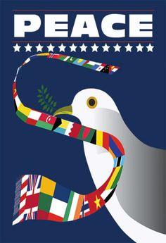 Peace Poster. $75.00, via Etsy.