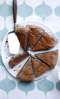 Kladdkaka is a traditional Swedish chocolate cake, deliberately under-baked to create a deliciously gooey, chocolatey middle! Find the traditional recipe on the Waitrose website. // use gf flour and hope for the best? Slow Cooker Desserts, Baking Recipes, Cake Recipes, Dessert Recipes, Swedish Recipes, Sweet Recipes, Swedish Cake Recipe, Scandinavian Food, Cookies Et Biscuits