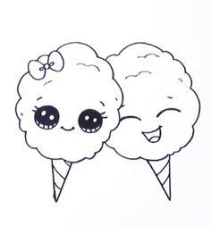 Cute Disney Drawings, Easy Cartoon Drawings, Cute Easy Drawings, Girly Drawings, Cute Kawaii Drawings, Kawaii Doodles, Cool Art Drawings, Cute Doodles, Coffee Wallpaper Iphone