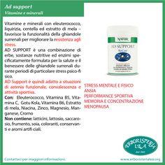 AD Support Vitamine e minerali con eleuterococco Lo trovi sul nostro sito