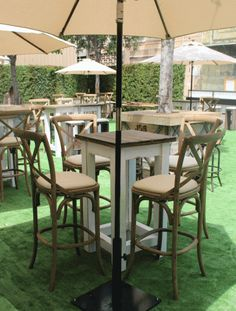 Vineyard Weathered Oak Bar Stool | Town & Country Event Rentals