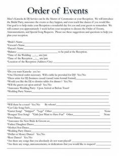 Wedding Itinerary Templates Free Wedding Template Projects To reception order of events Wedding Itinerary Templates Free Wedding Template Projects To Wedding Day Timeline Template, Wedding Itinerary Template, Free Wedding Templates, Wedding Day Itinerary, Wedding Planning Timeline, Templates Free, Event Planning, Wedding Planner, Wedding Agenda