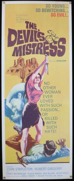 The Devil's Mistress Movie Poster Rare by ScreenlandMoviepaper