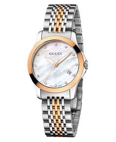 Gucci Watch, Women's Swiss G-Timeless Two Tone Stainless Steel Bracelet 27mm YA126514