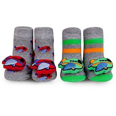 c1962c1b8dd0 Waddle and Friends Baby Boys Airplane Rattle Socks Slippe... https    · Designer  Baby ShoesKids ...