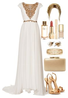 A fashion look from December 2015 featuring marchesa gowns, strappy heeled sandals and brown handbags. Browse and shop related looks. Elegant Dresses, Pretty Dresses, Beautiful Dresses, Dressy Outfits, Mode Outfits, Evening Outfits, Evening Dresses, Mode Chic, Mode Inspiration