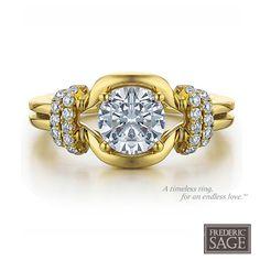 Frederic Sage Bridal Ring Style RM196-Y #SageBride