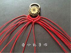 南美蜡线红手绳-相守 第4步