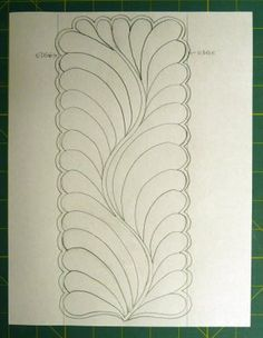 Tutorial on making feather designs