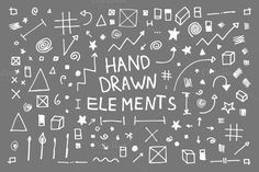 Check out 133 Hand Drawn Vector Elements by Mihaly on Creative Market