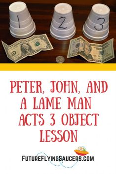 Peter, John, and a Lame Man Acts 3 Object LessonYou can find Sunday school lessons and more on our website.Peter, John, and a Lame Man Acts 3 Object Lesson Youth Group Lessons, Kids Church Lessons, Kids Sunday School Lessons, Sunday School Activities, Bible Lessons For Kids, Sunday School Crafts, Youth Groups, Youth Activities, Church Activities