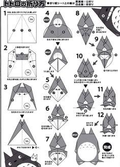 Origami!Totoro. Twitter / totoro_ghibli2u: 【となりのトトロ】 折り紙でトトロを作ろう♡