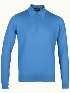 John Smedley Finchley Long Sleeve Polo Shirt - Jay Blue - Available to buy at http://www.afarleycountryattire.co.uk/product-tag/john-smedley-finchley-long-sleeve-polo-shirt/ #johnsmedley #mensfashion #poloshirt #afarleycountryattire