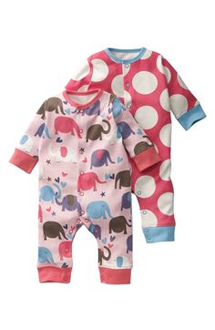 Mini Boden Coveralls (2-Pack) (Infant)