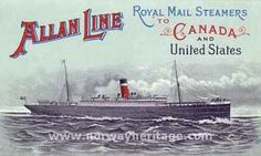 Allan Line to Canada - ship images