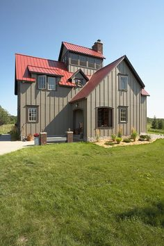 Outstanding Metal Hunting Lodge Home (HQ Pictures)   Metal Building Homes gray metal siding exterior