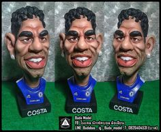 Diego Costa.resin.Bust Statue Caricature by BUDAMODEL on Etsy